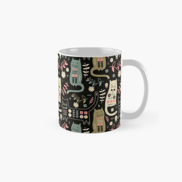 Chat Folk Mug classique
