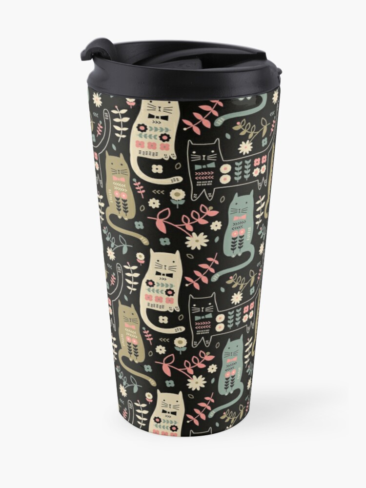 Alternate view of Cat Folk  Travel Mug