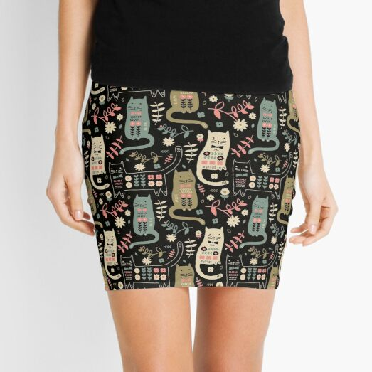Cat Folk  Mini Skirt