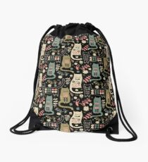Cat Folk  Drawstring Bag