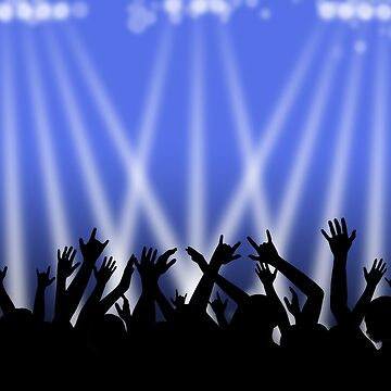 Dancing Crowd With Blue and White Lights by MarkUK97