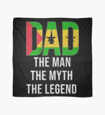 Sao Tomean Dad The Man The Myth The Legend, Gift For Sao Tomean Father From  Sao Tome And Principe From Son Or Daughter -  Sao Tome And Principe Flag in Dad Scarf