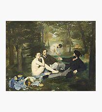HD. Das Mittagessen auf dem Gras, von Edouard Manet. HOCHAUFLÖSEND Fotodruck