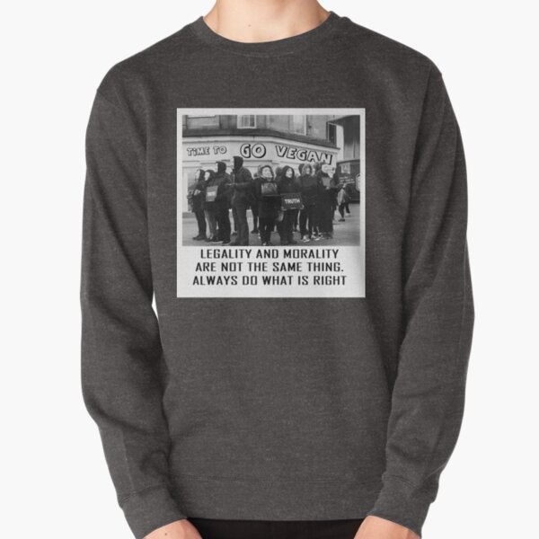 Anonymous for the voiceless cube of truth vegan animal rights Pullover Sweatshirt