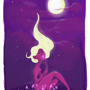 Moon Flowers by jothezette