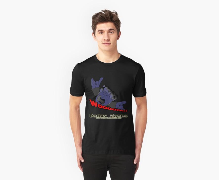 "Dodgy Games ""Woooooo"" Shirt by BaronVonRosco"