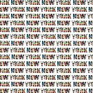 New York (horizontal typography) by Ray Warren