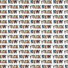 New York (horizontal typography) by Ray Warren