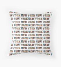 New York (horizontal typography) Throw Pillow