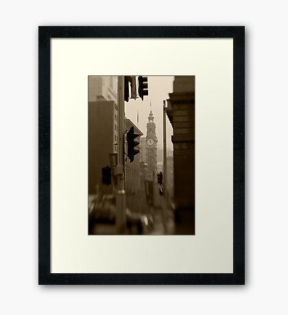 General Post Office Clock Tower - Sydney - Australia Framed Print