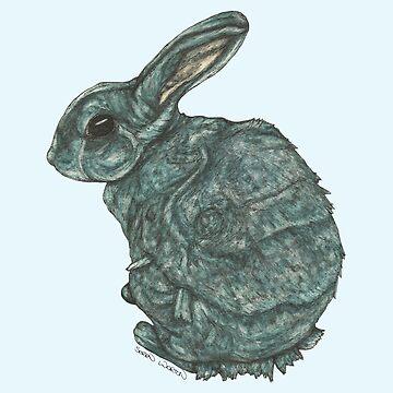 Blue Rex Rabbit by SerenSketches
