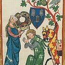 Medieval German Minne art  by edsimoneit