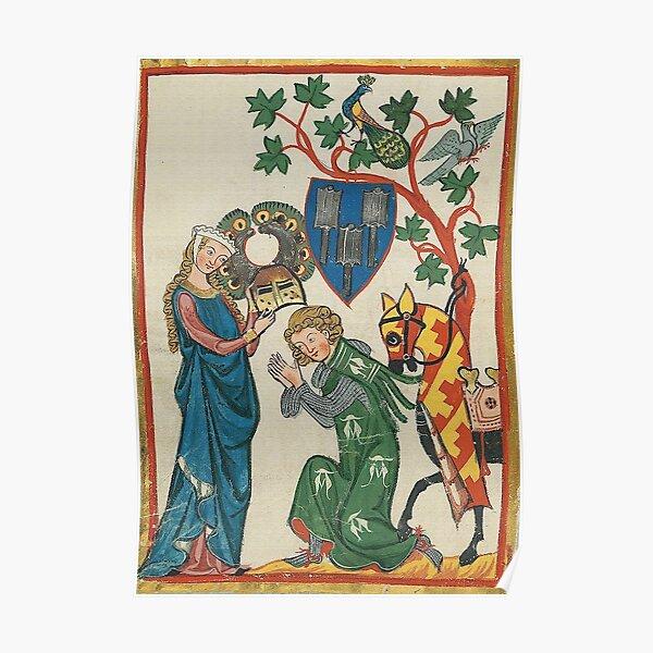 Medieval German Minne art  Poster