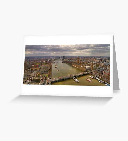 The Thames & London Panorama Greeting Card