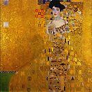 Gold leaf Jugendstil Portrait of Adele Bloch-Bauer, vintage 1907 by edsimoneit