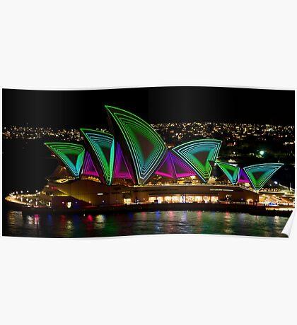 Time Tunnel Sails - Sydney Vivid Festival - Sydney Opera House Poster