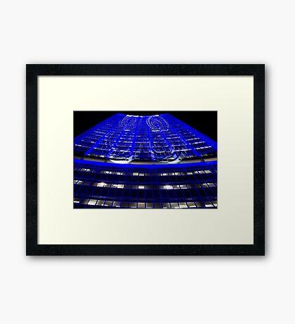 Curled Up & Blue - Vivid Festival - Sydney Framed Print
