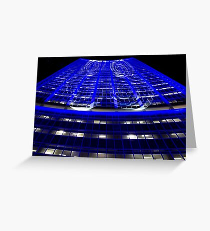Curled Up & Blue - Vivid Festival - Sydney Greeting Card
