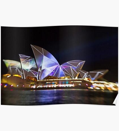 Fractured Sails - Sydney Vivid Festival - Sydney Opera House Poster