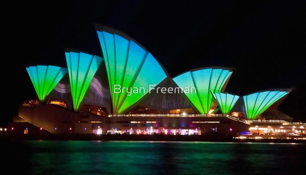Splice Sails - Sydney Vivid Festival - Sydney Opera House by Bryan Freeman