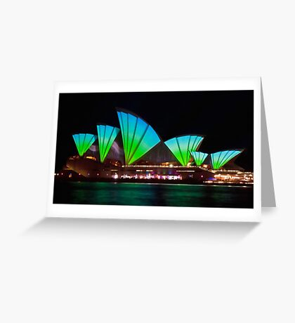 Splice Sails - Sydney Vivid Festival - Sydney Opera House Greeting Card