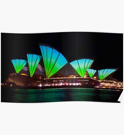 Splice Sails - Sydney Vivid Festival - Sydney Opera House Poster
