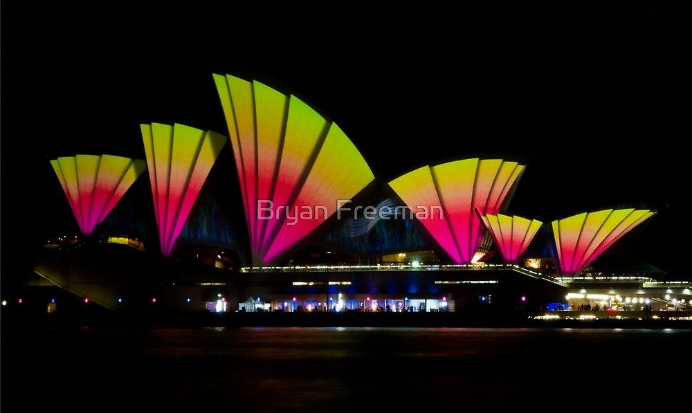 Fire Sails - Sydney Vivid Festival - Sydney Opera House by Bryan Freeman