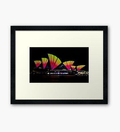 Fire Sails - Sydney Vivid Festival - Sydney Opera House Framed Print