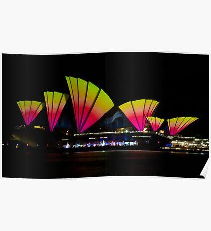 Fire Sails - Sydney Vivid Festival - Sydney Opera House Poster