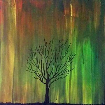 Abstract Sunset Tree by LemonHaze