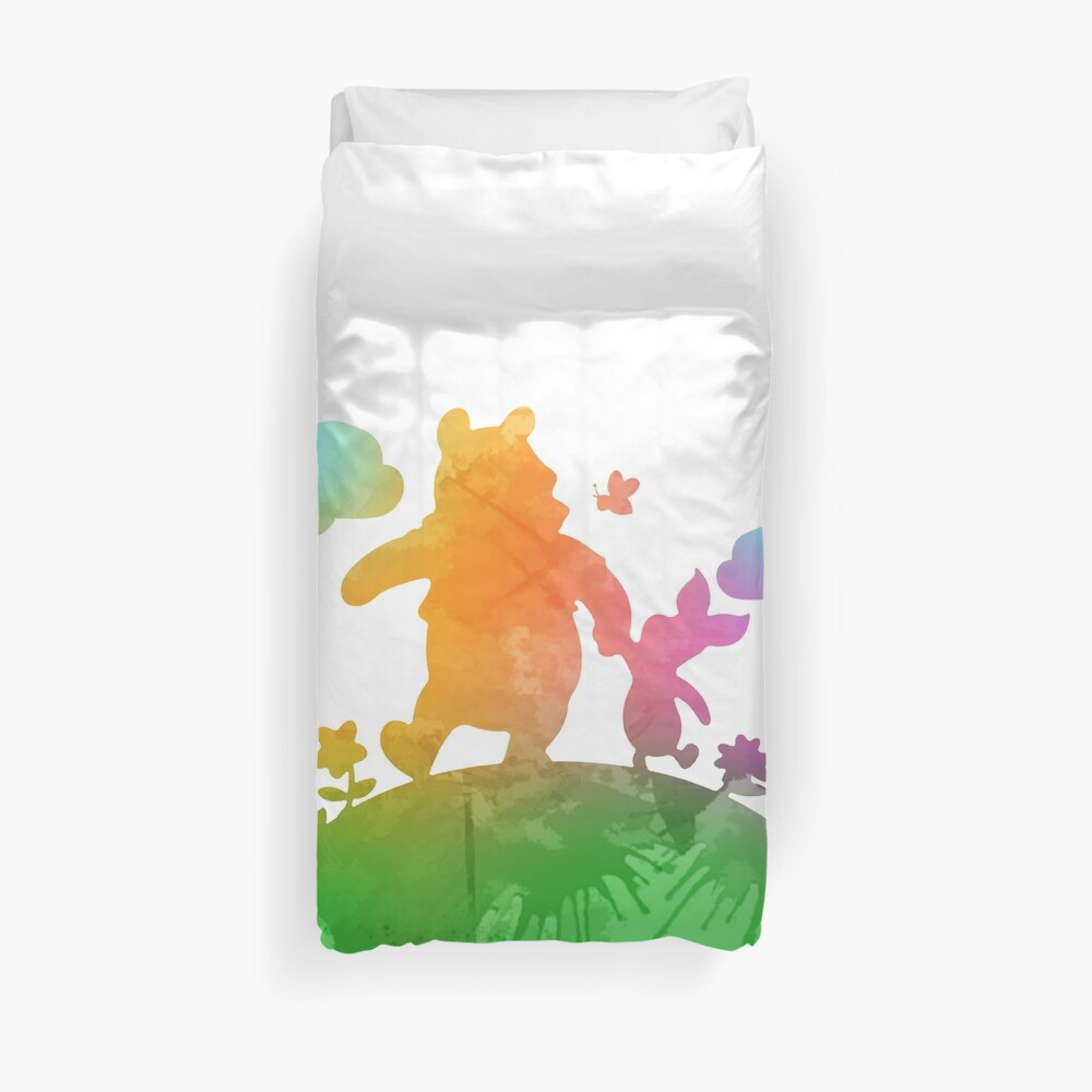 Friends on the hill Inspired Silhouette Duvet Cover