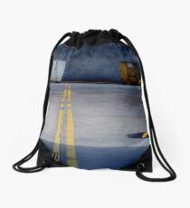 A Bin Too Far Drawstring Bag