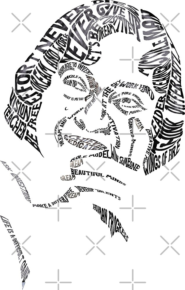 Abdul Kalam Azad Typography by Saksham Amrendra