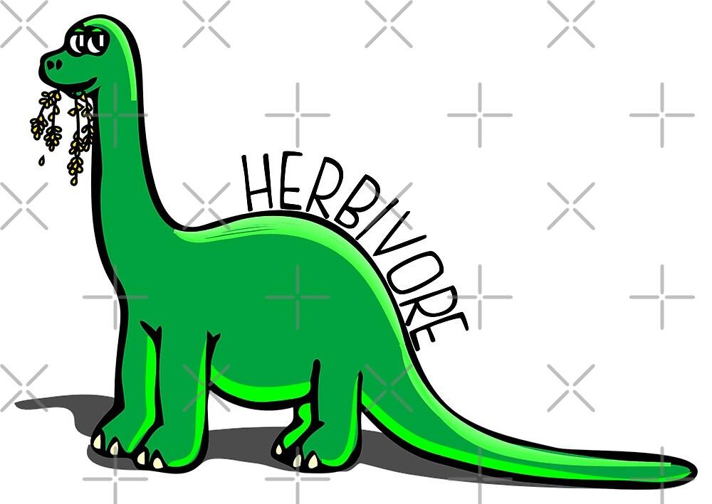 Herbivore dinosaur vegan plant based by veganstickers