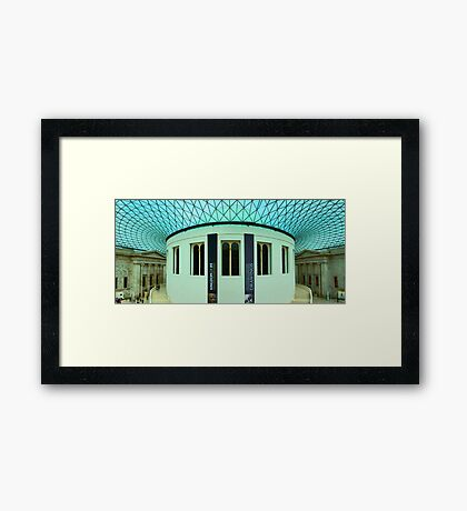 The Great Court - British Museum - London - HDR Panorama Framed Print