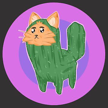 Cactus Cat! by JosefLiner