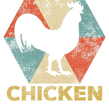 Vintage Polygon Chicken by Distrill