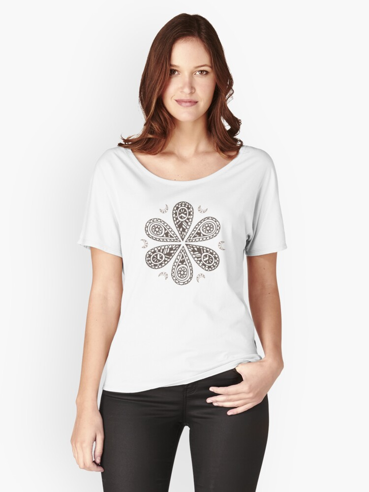 Tribal Circle Life Shapes Tattoo Maori Nature Tribe Ancient - Gift Idea Women's Relaxed Fit T-Shirt Front