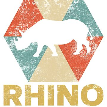 Vintage Polygon Rhino by Distrill