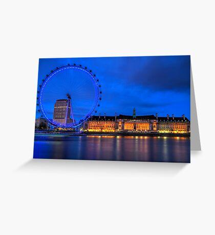 London Eye & Aquarium From Across The Thames Greeting Card