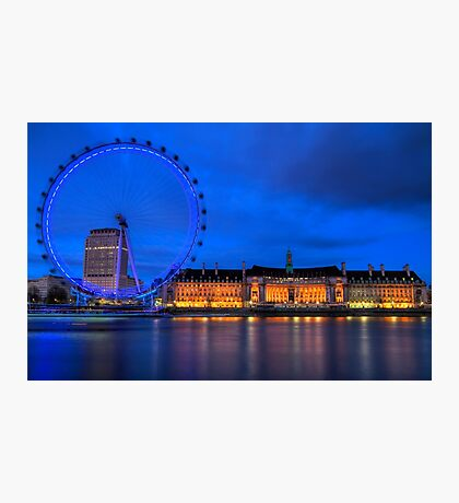 London Eye & Aquarium From Across The Thames Photographic Print