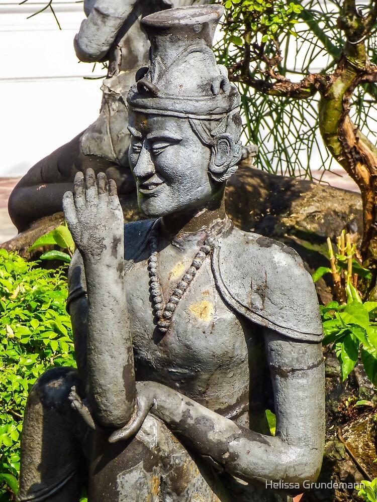 Thai yoga statue by Helissa Grundemann