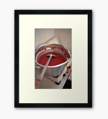 Saucy Framed Print