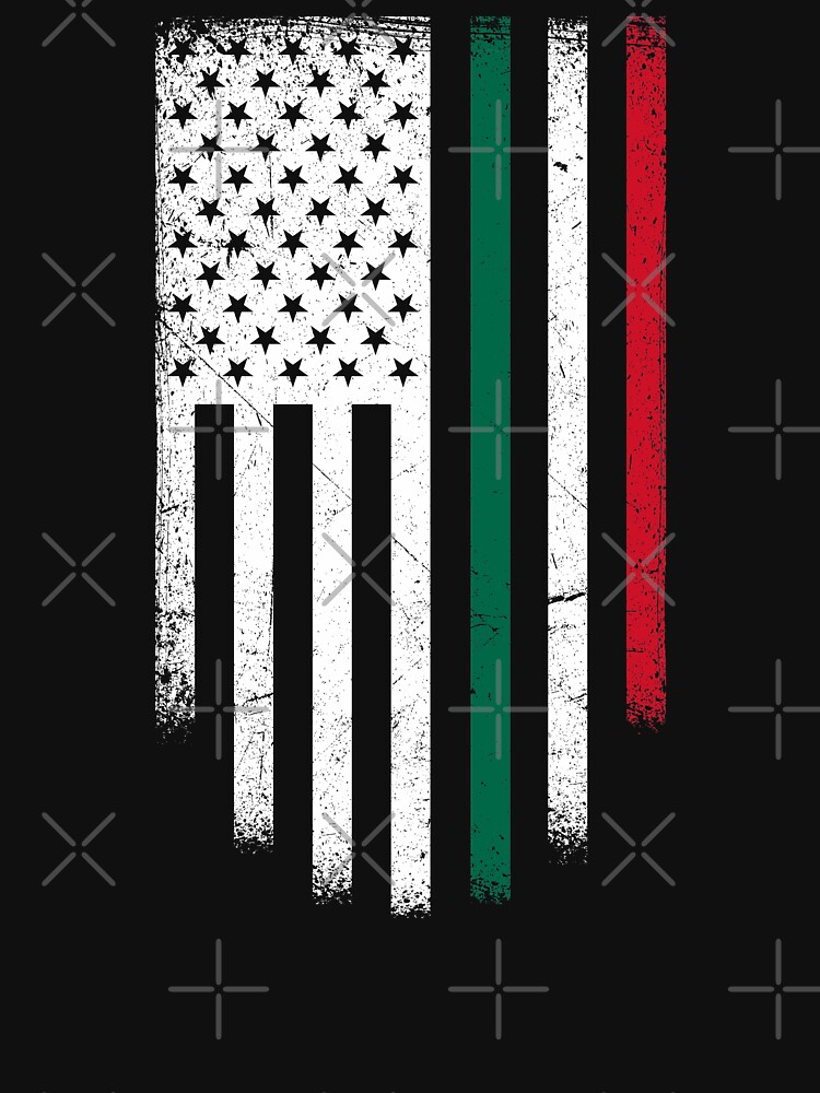 America Mexico Flag Distressed by goodspy