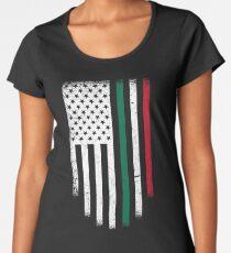America Mexico Flag Distressed Women's Premium T-Shirt
