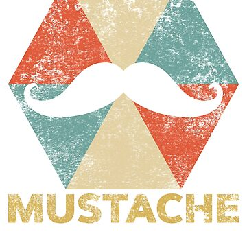Vintage Polygon Mustache by Distrill