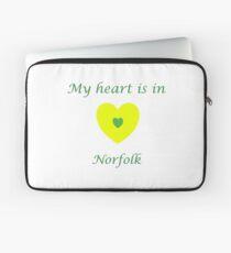 My Heart is in Norfolk  Laptop Sleeve