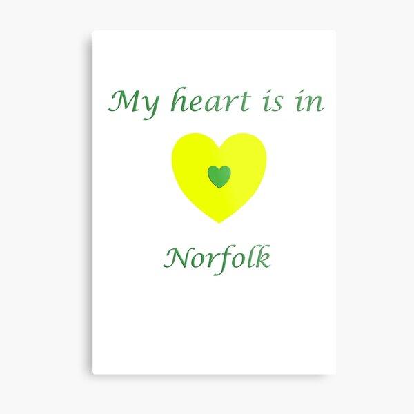 My Heart is in Norfolk  Metal Print