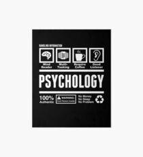 Funny College Psychology Major Handling Information Art Board
