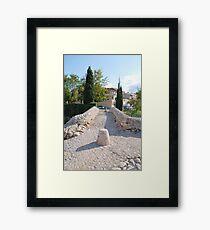 The Roman bridge at Pollenca, Majorca Framed Print